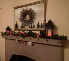 Holly laden mantel