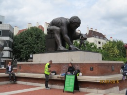 Newton outside British Library