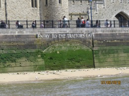 Traitors' entry to Tower of London