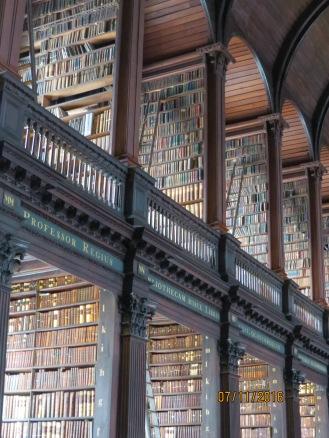 Bookshelves from ceiling to floor