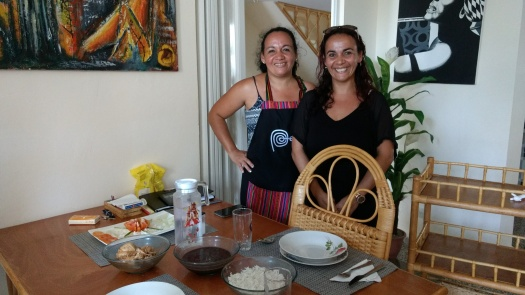 Tonya & her sister who cooked and served our lunch.