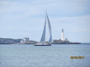 Sailboat on Boston Harbor