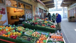 Fruit & vegetable market in our neighborhood