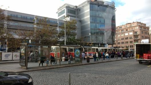 prague tram stop