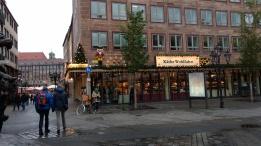 store with krismas lights nurenberg
