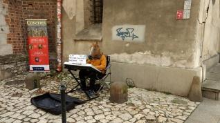 street performer horse