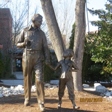 Statue outside the Andy Griffith's Museum