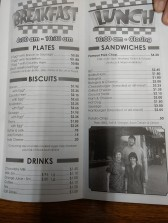 Menu from Snappy Lunch
