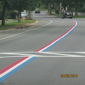 Patriot strip on highway
