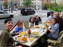 Lunch with family after trip to Smithsonian